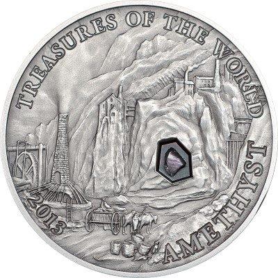 Palau - 2013 - 5 Dollars - Treasures of the World AMETHYST (PROOF)