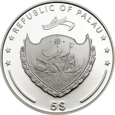 Palau - 2014 - 5 Dollars - Beauty of the Sea (including box) (PROOF)