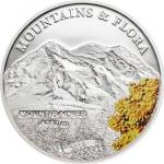 Palau - 2014 - 5 Dollars - Mountains & Flora MOUNT RAINIER (including box) (PROOF)