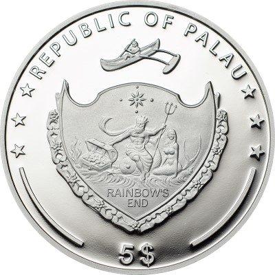 Palau - 2014 - 5 Dollars - World of Wonders VOLUBILIS (including box) (PROOF)