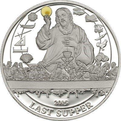 Palau - 2015 - 5 Dollars - Biblical Stories LAST SUPPER (PROOF)