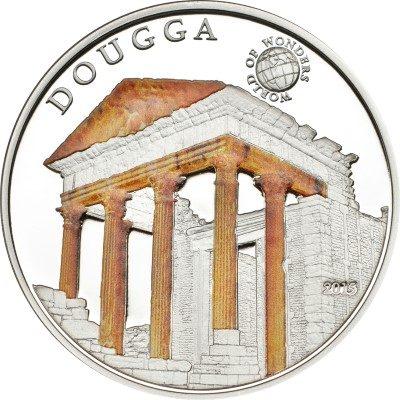 Palau - 2015 - 5 Dollars - World of Wonders DOUGGA (including box) (PROOF)