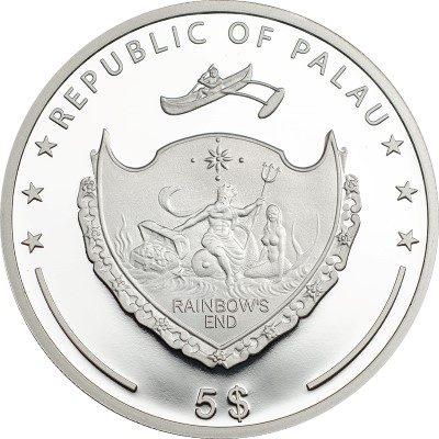 Palau - 2015 - 5 Dollars - World of Wonders SPACE NEEDLE (including box) (PROOF)
