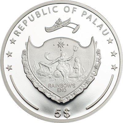 Palau - 2016 - 5 Dollars - World of Wonders KAMPHAENG PHET (including box) (PROOF)