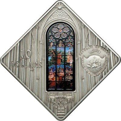 Palau - 2012 - 10 dollars - Sacred Art VOTIVE CHURCH VIENNA  (PROOF)
