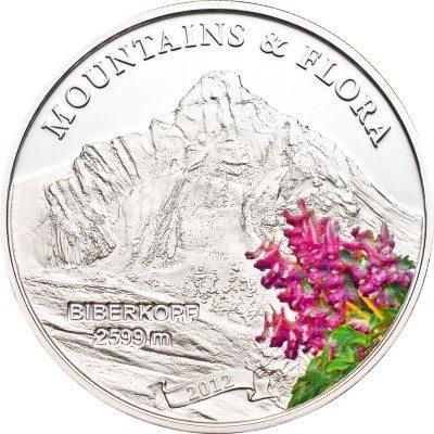 Palau - 2012 - 5 dollars - Mountains and Flora BIBERKOPF (including box) (PROOF)