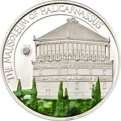 Palau - 2013 - 5 dollar - Antique 7 Wonders of the World MAUSOLEUM OF HALICARNASSUS(including box) (PROOF)