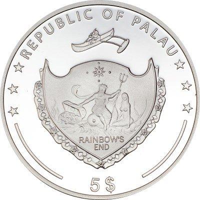 Palau - 2013 - 5 dollars - Secrets of the Sea Pearl 2013 (including box) (PROOF)