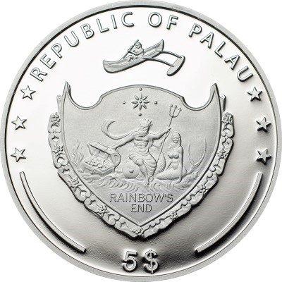 Palau - 2013 - 5 dollar - World of Wonders DRESDEN FRAUENKIRCHE (including box) (PROOF)