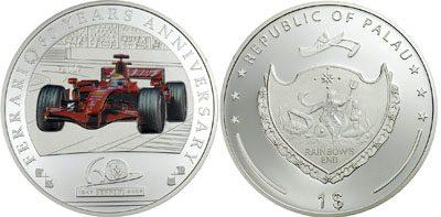 Palau - 2007 - 1 Dollar - 60 Years Ferrari (PROOF)