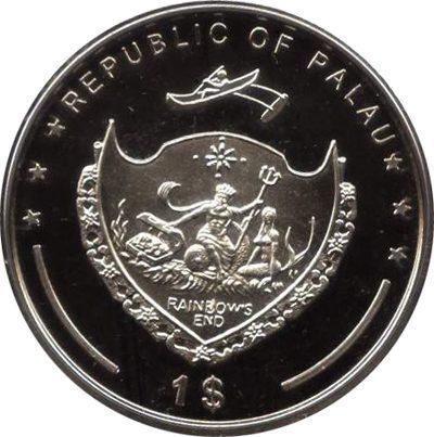 Palau - 2009 - 1 Dollar - Clown Trigger Fish (PROOF)