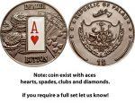 Palau - 2008 - 1 Dollar - Poker Dealer Button (BU)