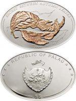 Palau - 2008 - 5 Dollars - Illusion Autumn Leaves (PROOF)