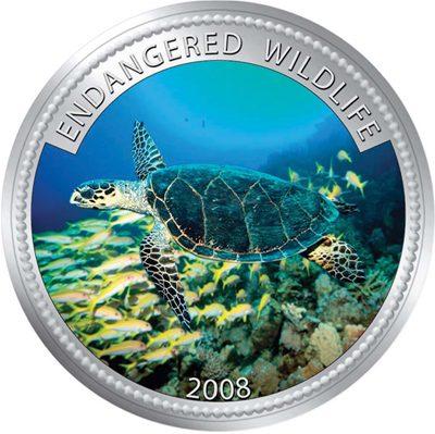 Palau - 2008 - 1 Dollar - Sea Turtle (PROOF)