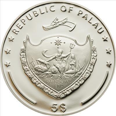 Palau - 2009 - 5 Dollars - Ship Pamir (PROOF)