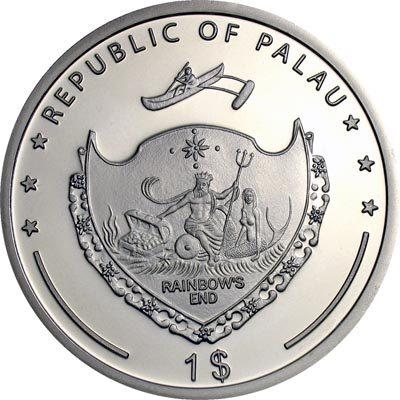 Palau - 2009 - 1 Dollar - Barn Swallow Prism (PROOF)