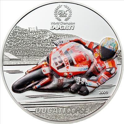 Palau - 2009 - 1 Dollar - Ducati Troy Bayliss (PROOF)