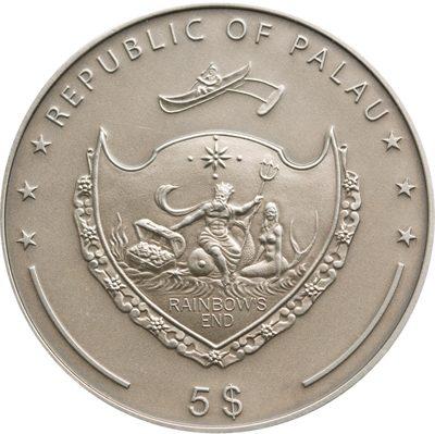 Palau - 2009 - 5 Dollars - Treasures of the World EMERALD (PROOF)
