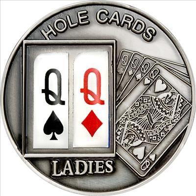 Palau - 2009 - 1 Dollar - Poker Holes Cards Ladies VERSION2 (BU)