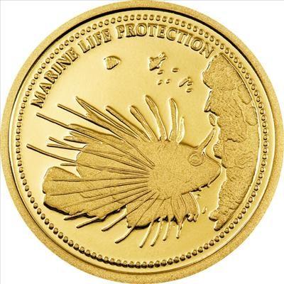 Palau - 2009 - 1 Dollar - Marine Life RED LIONFISH (PROOF)