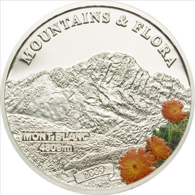 Palau - 2009 - 5 Dollars - Flora & Mountains MONT BLANC (PROOF)
