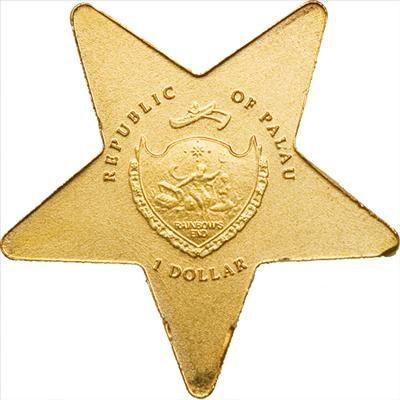 Palau - 2009 - 1 Dollars - Lucky Star (PROOF)
