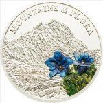 Palau - 2009 - 5 Dollars - Flora & Mountains ZUGSPITZE (PROOF)