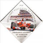 Palau - 2010 - 1 Dollar - Greatest Victories of Ferrari F10 (PROOF)