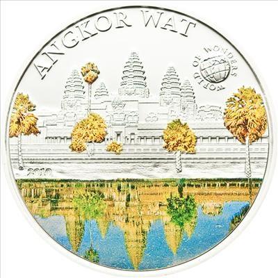 Palau - 2010 - 5 Dollars - World of Wonders ANGKOR WAT (PROOF)
