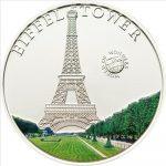 Palau - 2010 - 5 Dollars - World of Wonders EIFFEL TOWER (PROOF)