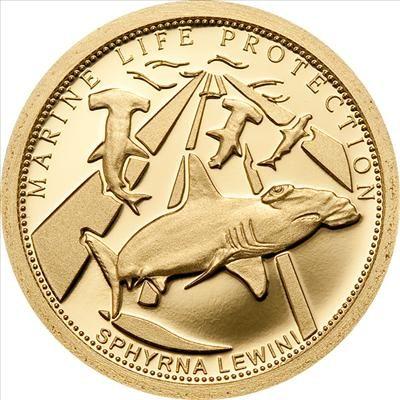 Palau - 2010 - 1 Dollar - Marine Life SCALLOPED HAMMERHEAD (PROOF)