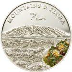 Palau - 2010 - 5 Dollars - Flora & Mountains KILIMANJARO (PROOF)