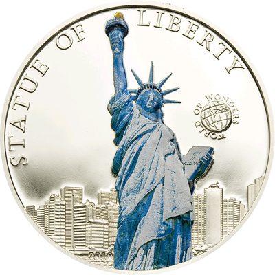Palau - 2010 - 5 Dollars - World of Wonders STATUE OF LIBERTY (PROOF)