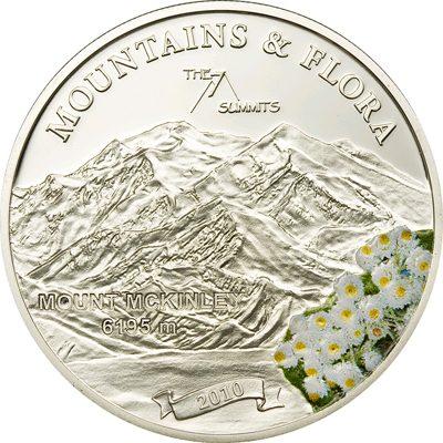 Palau - 2010 - 5 Dollars - Flora & Mountains MOUNT MC KINLEY (PROOF)