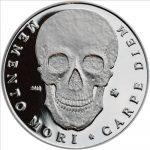 Palau - 2010 - 5 Dollars - Memento Skull (PROOF)