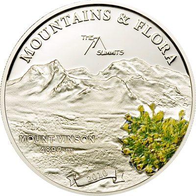 Palau - 2010 - 5 Dollars - Flora & Mountains MOUNT VINSON (PROOF)