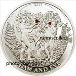 Palau - 2011 - 2 Dollars - Biblical Stories ADAM AND EVE (PROOF)