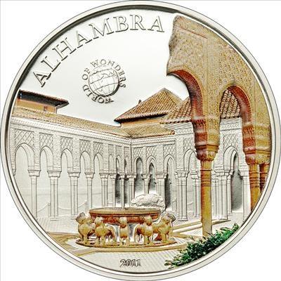Palau - 2011 - 5 Dollars - World of Wonders ALHAMBRA (PROOF)