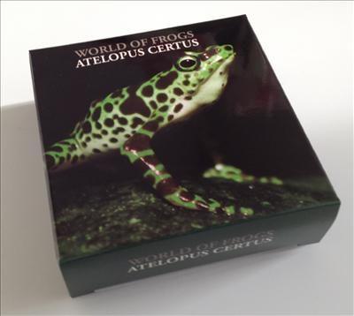 Palau - 2011 - 2 Dollars - World of Frogs ATELOPUS CERTUS green (PROOF)