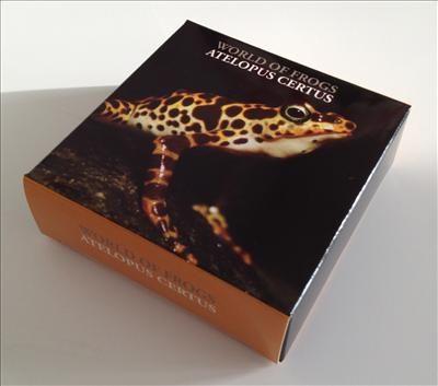 Palau - 2011 - 2 Dollars - World of Frogs ATELOPUS CERTUS orange (PROOF)