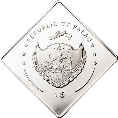 Palau - 2011 - 1 Dollar - Greatest Victories of Ferrari Ferrari 126 C2 - G. Villeneuve (PROOF)