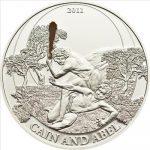 Palau - 2011 - 2 Dollars - Biblical Stories CAIN ABEL (PROOF)