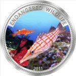 Palau - 2011 - 1 Dollar - Longnose Hawkfish (PROOF)