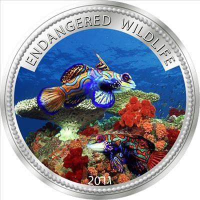 Palau - 2011 - 1 Dollar - Manderin Fish (PROOF)
