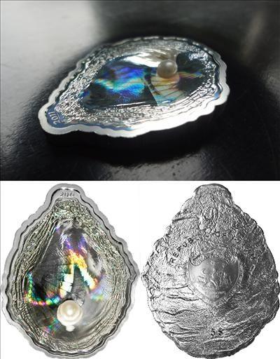 Palau - 2011 - 5 Dollars - Sea Treasures OYSTER (PROOF)