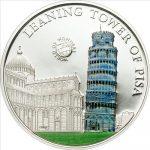 Palau - 2011 - 5 Dollars - World of Wonders TOWER OF PISA (PROOF)