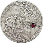 Palau - 2011 - 5 Dollars - Treasures of the World RUBY (PROOF)