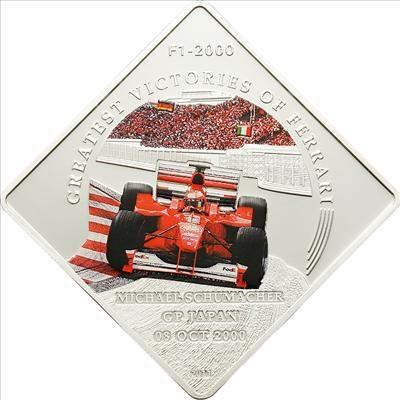 Palau - 2011 - 1 Dollar - Greatest Victories of Ferrari F1-2000 M. Schumacher (PROOF)