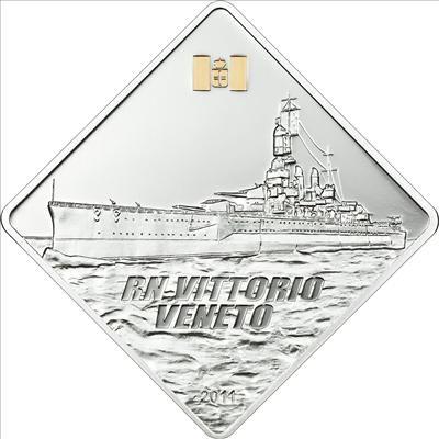 Palau - 2011 - 10 Dollars - RN Vittorio Veneto Battleship Series (PROOF)