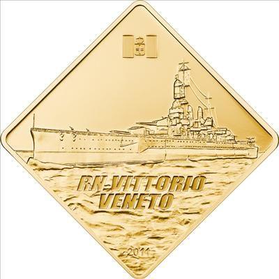 Palau - 2011 - 500 Dollars - RN Vittorio Veneto Battleship Series (PROOF)